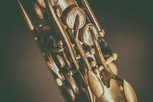 Detail of saxophone keys