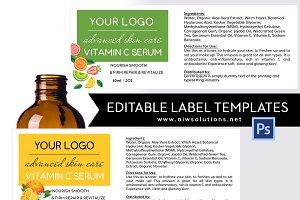 vitamin c label -id09