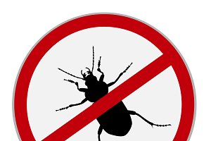 no bugs icons, vector illustration