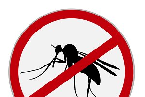 no mosquitoes sign, vector