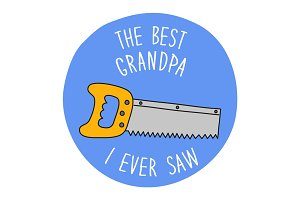 Funny hand drawn Father's Day greeting card