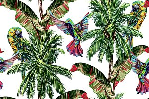 Palm trees,tropical summer pattern