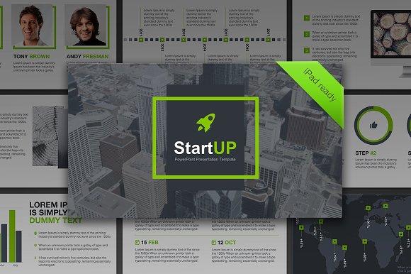 Startup powerpoint template presentation templates creative market toneelgroepblik Choice Image