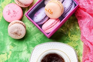 coffee and macaroons