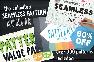 Unlimited Seamless Pattern Bundle