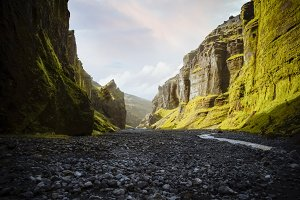 View of south valley of Iceland