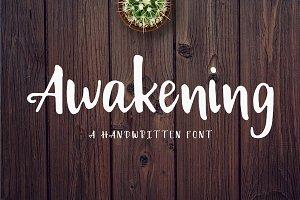Awakening | Handwritten Font