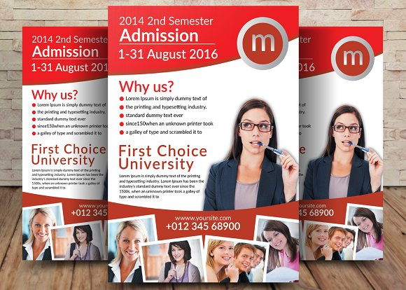 Study Abroad University Flyer
