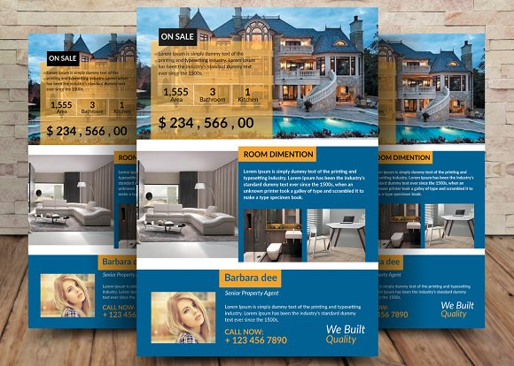 House For Sale Flyer Templates Flyer Templates on Creative Market – House for Sale Flyer Template