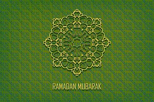 Ramadan Mubarak. 2 greeting cards.