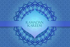 Ramadan Kareem. 2 Greeting cards.