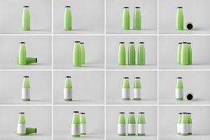 Juice Bottle Mock-Up Photo Bundle 3