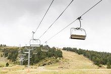 Ski lifts in the ski resort
