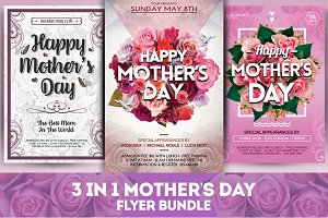 3 in 1 Mother's Day Flyer Bundle