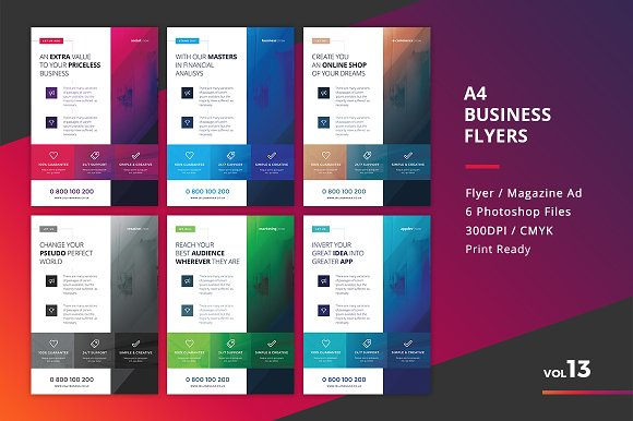 Corporate Flyer Templates 6PSD #13