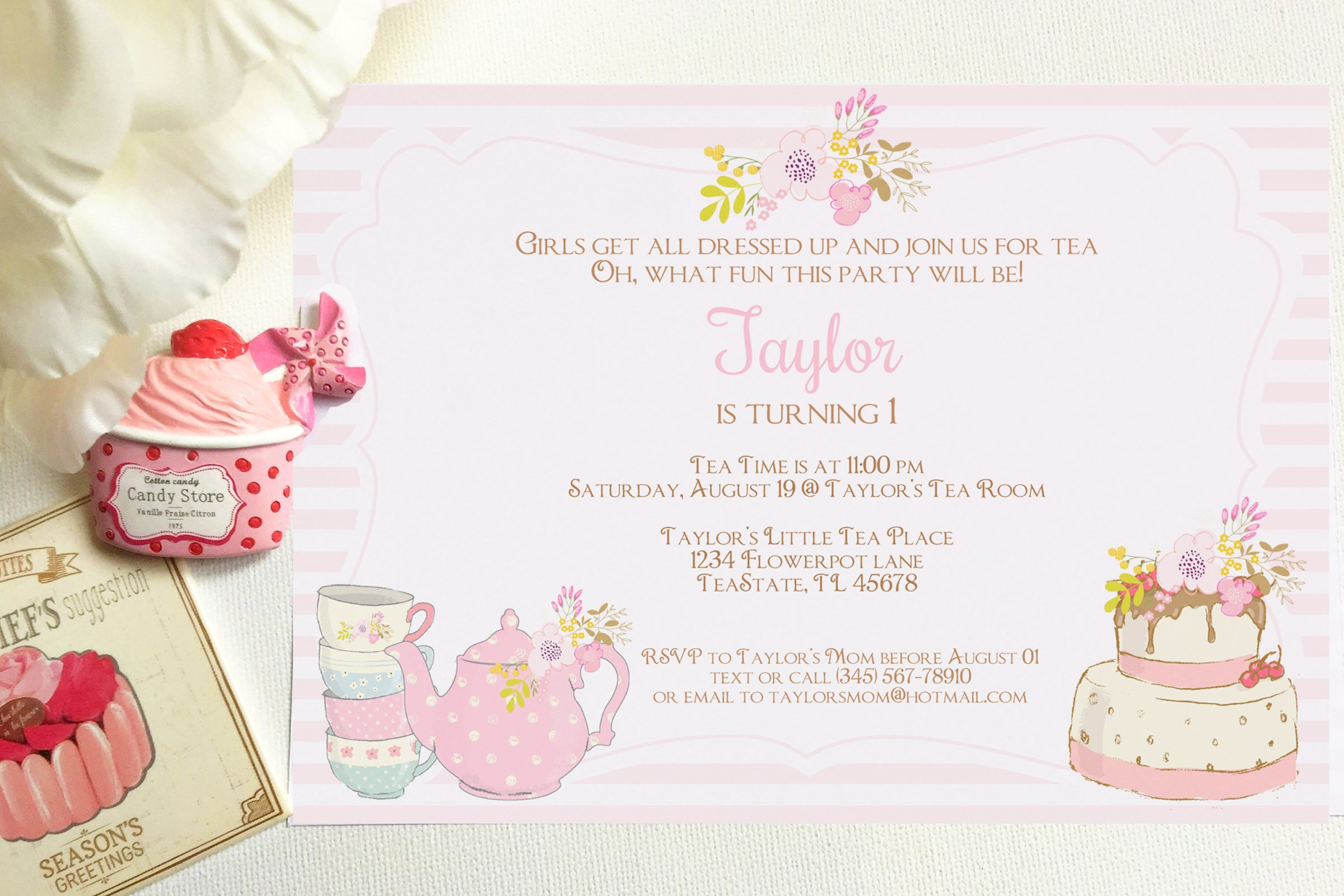 tea party invitation invitation templates creative market