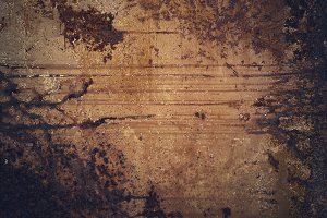 Dark Old rusty grunge metal texture background with copy space
