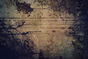 Gloomy Old rusty grunge metal texture background with copy space