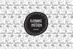 Elephant pattern in vector