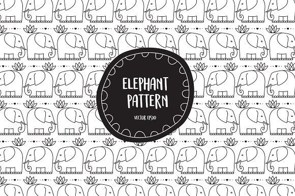 Elephant Pattern In Vector