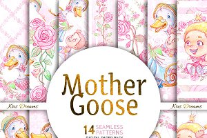 Mother Goose Digital Paper