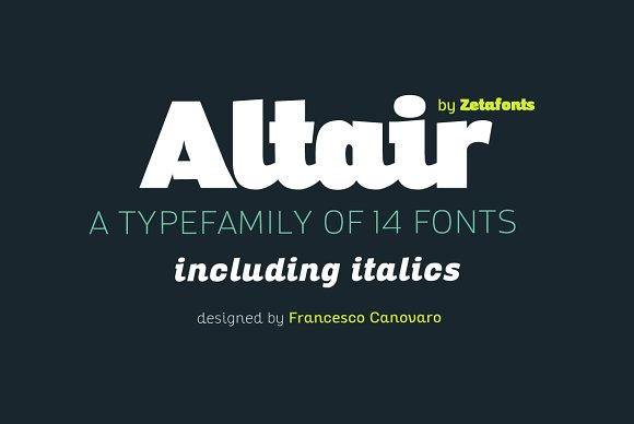 Altair - 14 Fonts