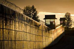 Prison sunset