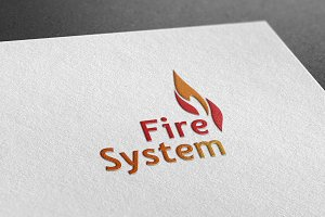 Fire System Style Logo