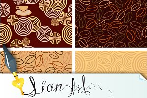 4 seamless pattern for Coffee style