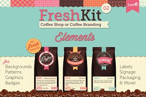 Coffee Cafe Branding Elements