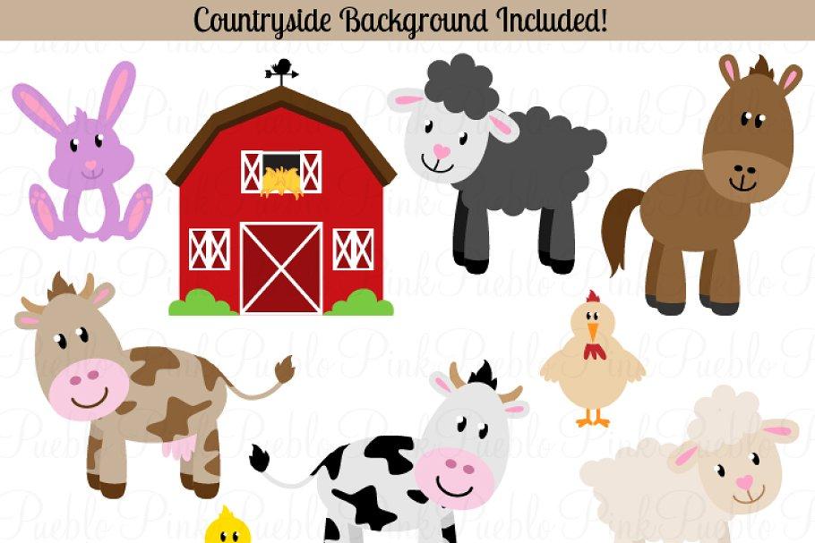 Farm Animals Vectors and Clipart