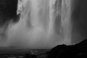 Waterfall. Iceland