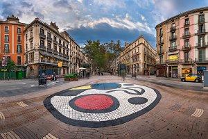 Joan Miro's Pla de l'Os mosaic