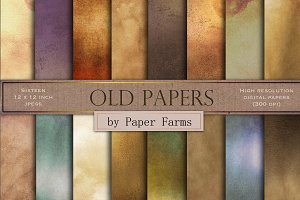 Vintage shabby papers