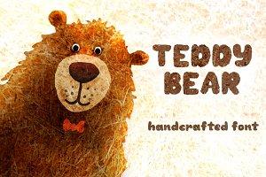 TeddyBear - handcrafted font
