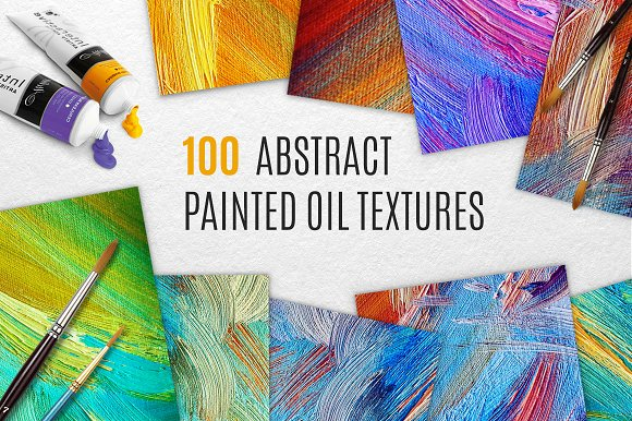 100 Abstract Painted Oil Textures