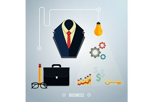 Business concept. Tools, interier