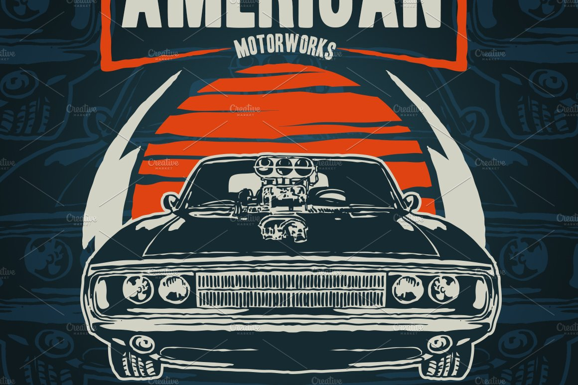 American Muscle Car ~ Illustrations ~ Creative Market