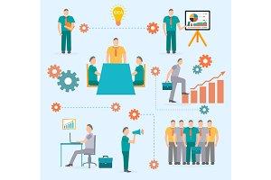Business start infographics template