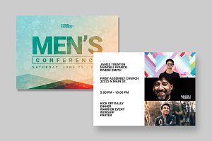 Men's Event Postcard Template