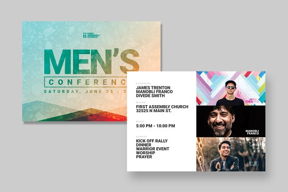 Mens Event Postcard Template Card Templates Creative Market - Event postcard template