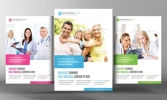Medical Health Care Flyer Template Flyer Templates on Creative – Health Brochure Template