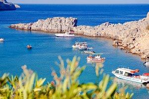 Greek islands - Rhodes, Lindos bay