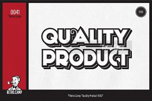 "Retro.Camp 0041 - ""Quality Product"""