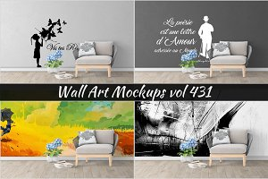 Wall Mockup - Sticker Mockup Vol 431