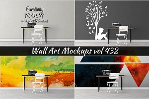Wall Mockup - Sticker Mockup Vol 432