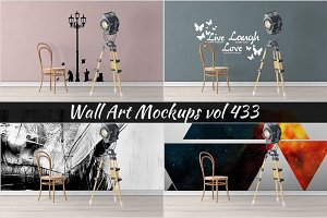 Wall Mockup - Sticker Mockup Vol 433
