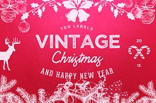 10 Logo Vintage Christmas / New Year