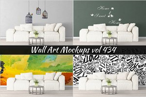 Wall Mockup - Sticker Mockup Vol 434