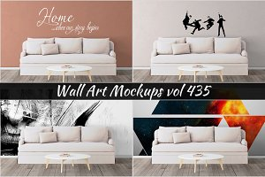 Wall Mockup - Sticker Mockup Vol 435
